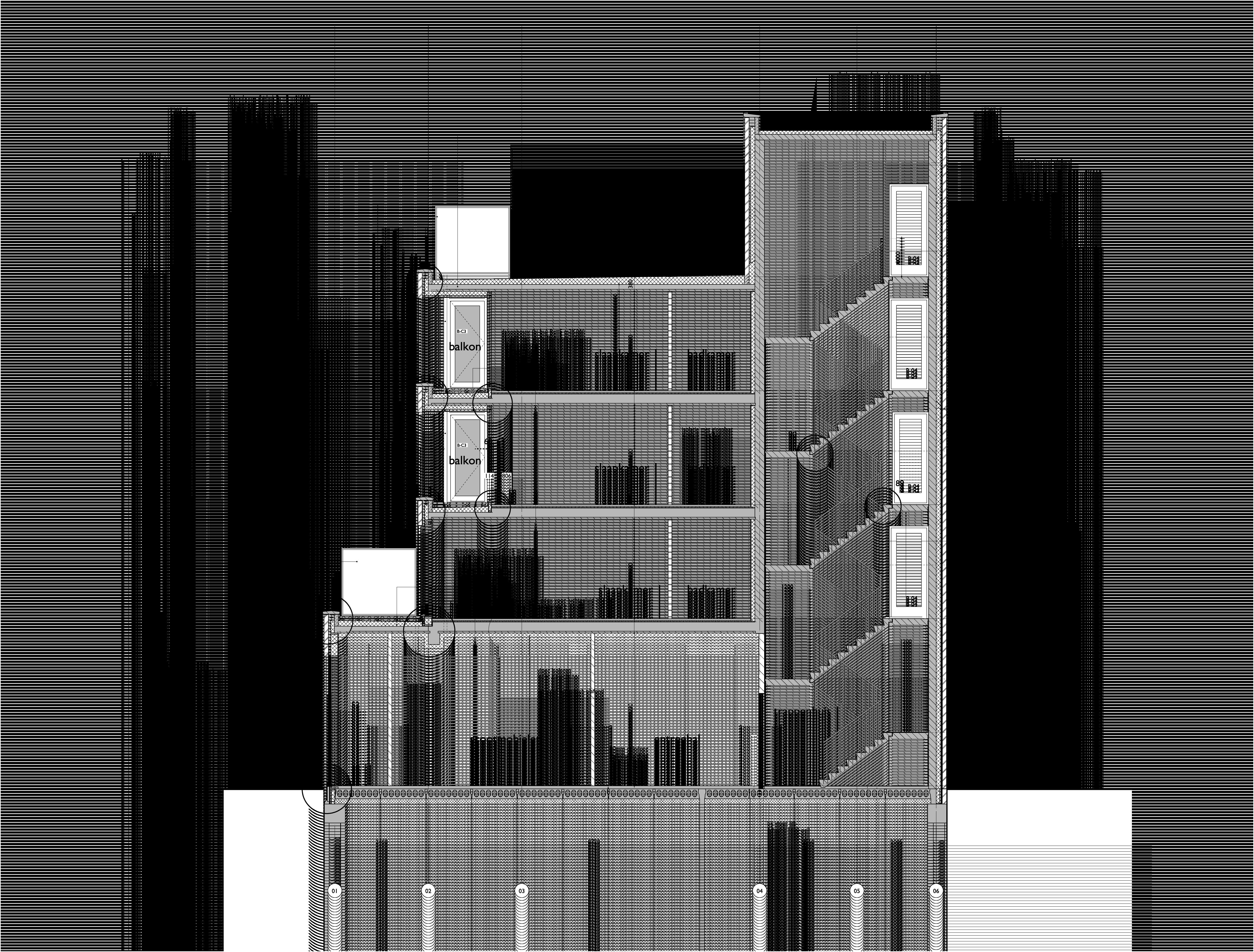doorsnede hoogbouw